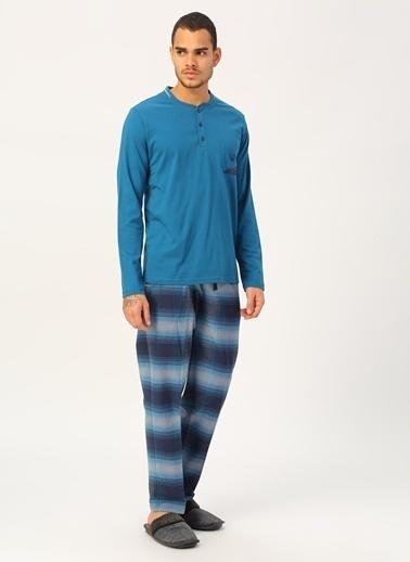 Eros Pijama Takım Mavi